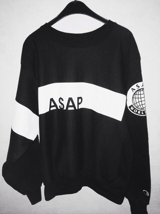sweater logo asap rocky black white international mens sweater asap sweatshirt