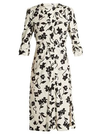 shirtdress floral print white dress