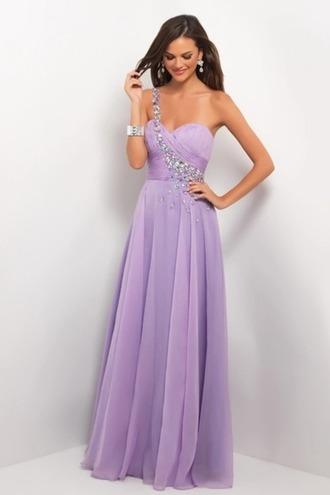 dress prom dress lilac long prom dress diamonds