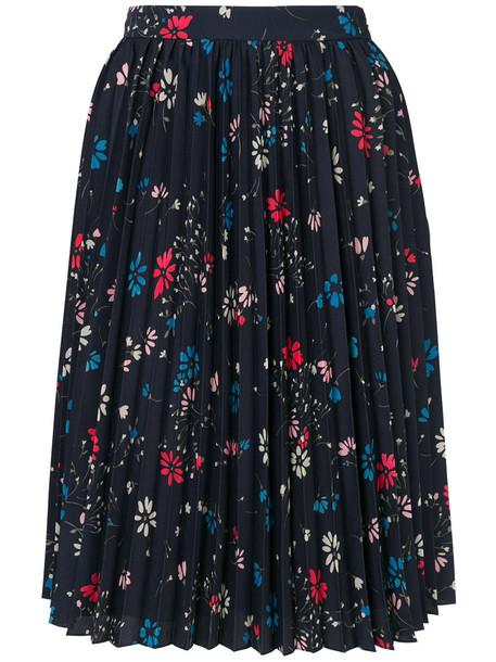 skirt pleated skirt pleated women blue
