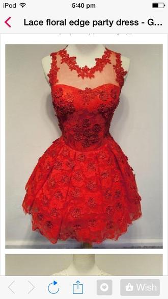 dress lace red dress lace dress