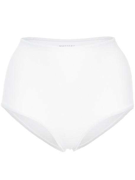 MATTEAU bikini high waisted bikini bikini bottoms high waisted high women spandex white swimwear