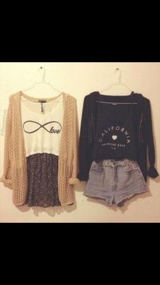 blouse infinity shirt and california print  shirt.