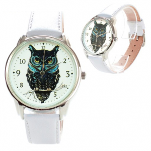Owl on a white branch unusual watch | ZIZ iz TIME