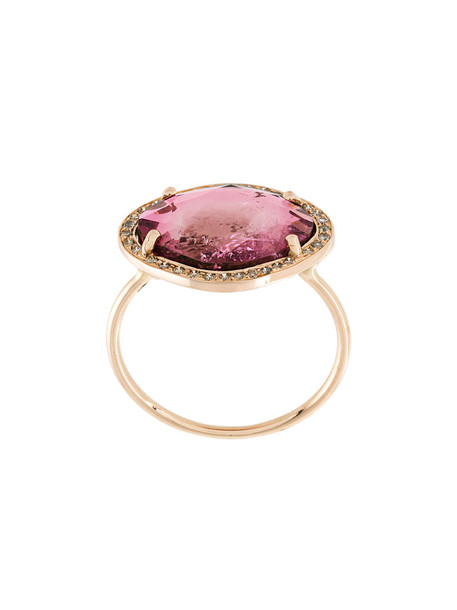 CELINE DAOUST triangle women ring gold purple pink jewels