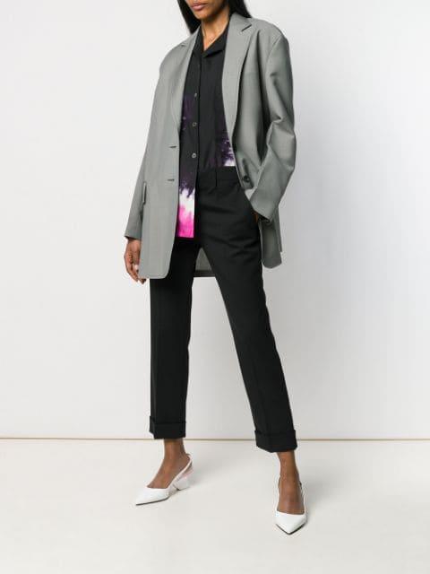 Prada Single Breasted Belted Jacket - Farfetch