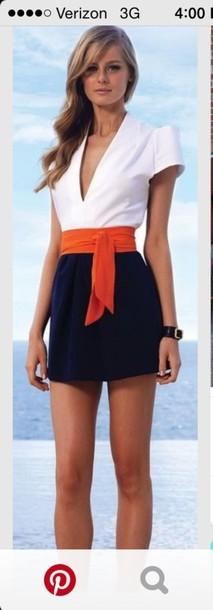 dress romper nautical style summer dress