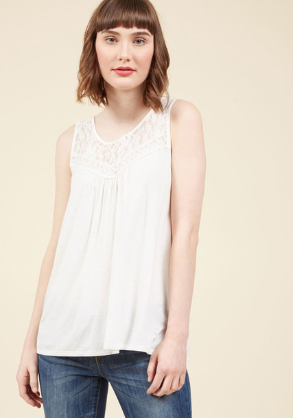 T10295-1 shirt tank top top white tank top loose sheer perfect lace white cotton