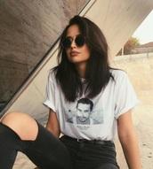 shirt,dylan rieder,white shirt,t-shirt,skateboard cruiser