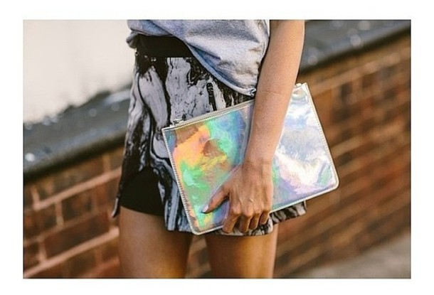bag clutch multicolored clutch colorful bag