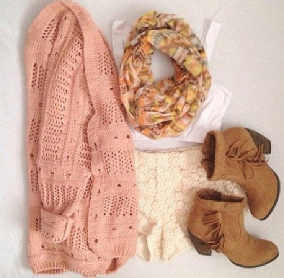 salmon salmon pink sweater peach cardigan knitted sweater knitted cardigan