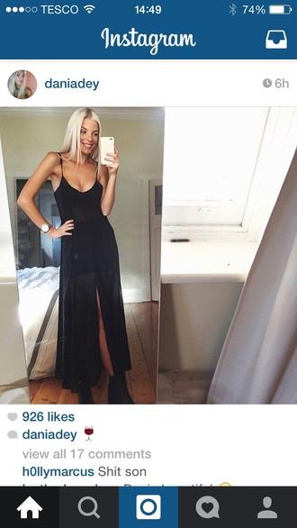 dress mesh dress black dress