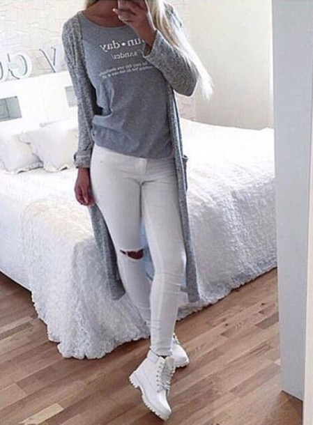 white skinny jeans outfit bbg clothing