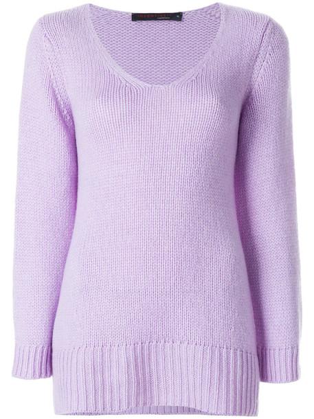 Incentive Cashmere jumper women purple pink sweater
