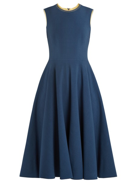 dress sleeveless silk blue