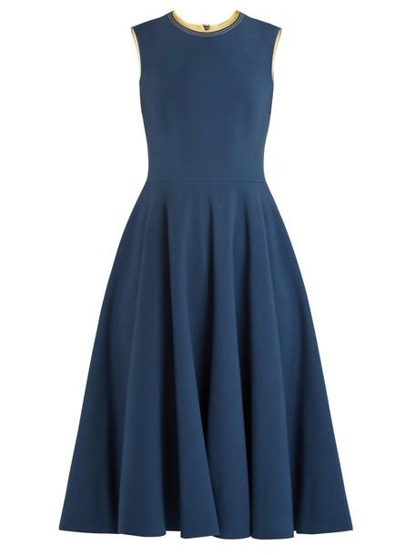 Roksanda dress sleeveless silk blue