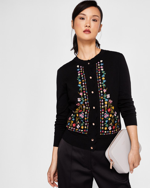 Ted Baker cardigan cardigan embroidered black sweater