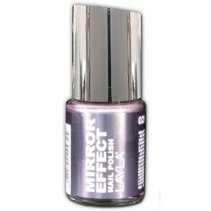 Amazon.com : Layla Mirror Effect Nail Polish (Cosmo Lilac #2) : Beauty