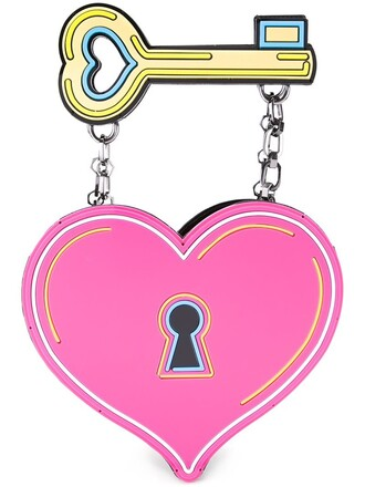 heart clutch purple pink bag