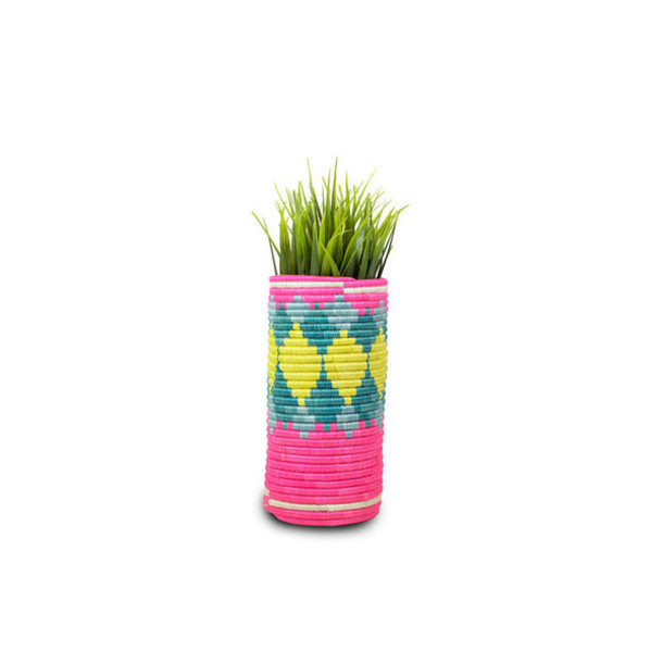 home accessory vase flowers bedroom neon neon yellow