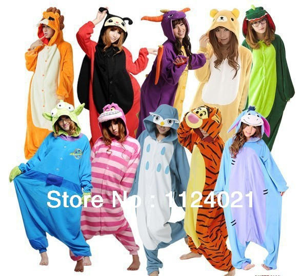 Skeleton/Shark/Turtle/Lion/Cookie monster/hamtaro/Yellow unicorn/Fox/Tiger/Goat/Sheep/Dog/Pig Kigurumi onesies Pajamas-in Costumes from Apparel & Accessories on Aliexpress.com