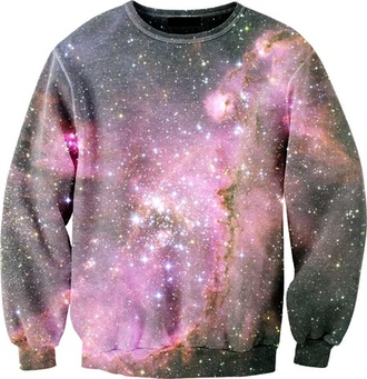 sweater shirt galaxy long sleeve black stars hipster