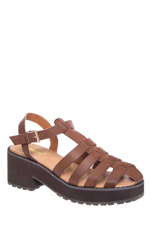 Black Gladiator Platform Heels