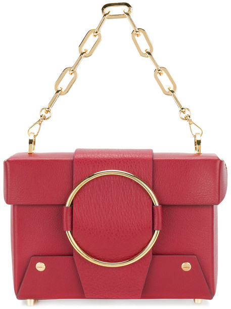 Yuzefi women bag crossbody bag leather red