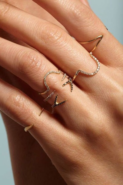 jewels jewelry ring stacking delicate ring stacking rings gold gold ring crystal pave dainty jewelry dainty ring rings and tings bling ring stack stacked dainty