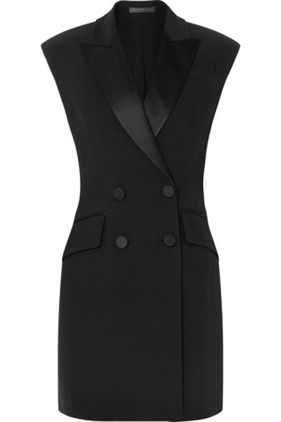 Alexander McQueen - Double-breasted Crepe Tuxedo Mini Dress - Black