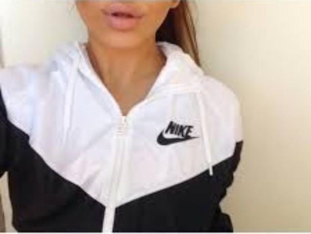 5445dfd3989c4 jacket nike nike jacket nike windbreaker windbreaker coat top sweatshirt  adidas sweater hoodie white black winter