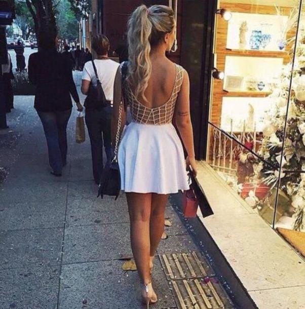 dress white dress gold white and gold dress