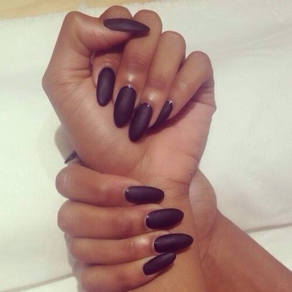 nail polish nails black matte black nailpoilsh