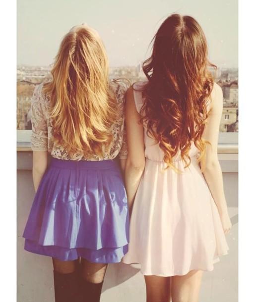 dress dress blonde hair brown hair