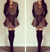 coat,leather arms,pleated,jacket,lovely,sweater,nike sweater