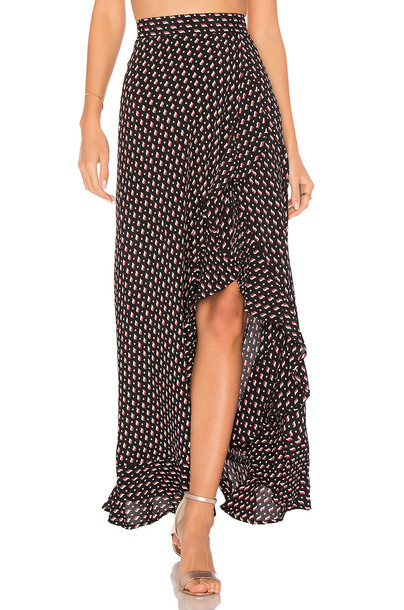 FLYNN SKYE Monica Maxi Skirt in black