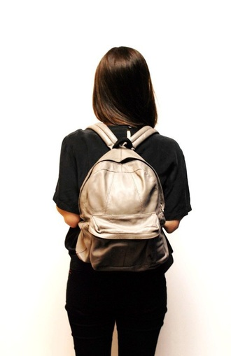 bag gold backpack grunge metallic black