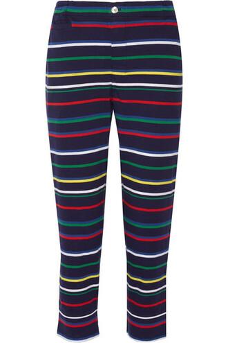 pants pajama pants navy cotton