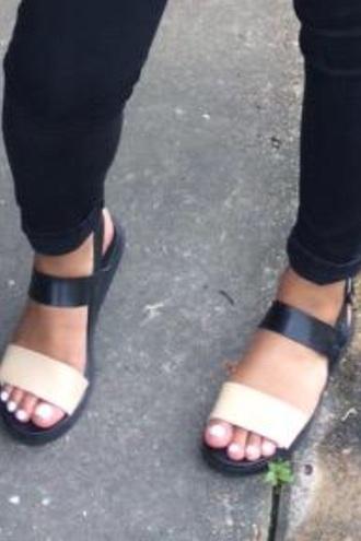 shoes sandals black sandals nude sandals
