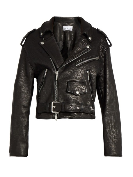 Raey jacket biker jacket leather black