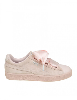 sneakers. heart sneakers suede pink shoes
