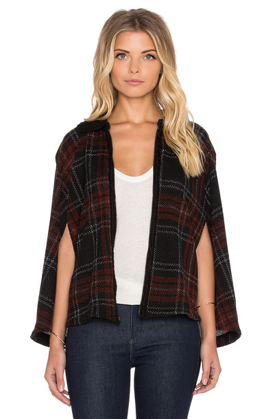 poncho zip red