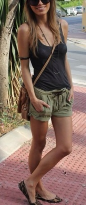shorts,green,summer,army green,cute shorts,clothes,tank top,cotton,the shorts,olive green,black,casual,style,khaki,linen shorts,loose shorts,cute,khaki pants,summer shorts,camouflage