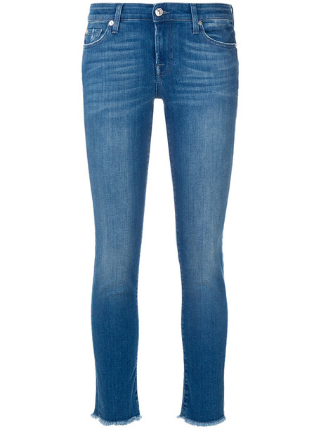 7 For All Mankind jeans skinny jeans women spandex cotton blue