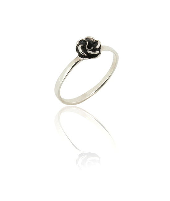 Silver Rose Ring | Silver Ring | Silver Jewellery | Stack Rings | BOHEM
