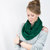 Dark Green Infinity Scarf Hunter Emerald Jersey Circle Cotton Womens Accessory Wide Circular