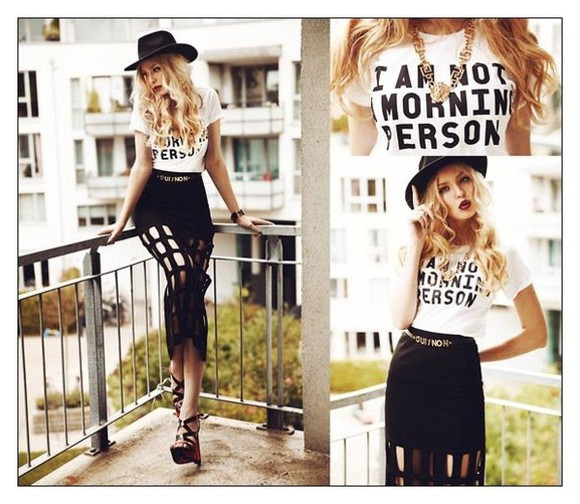 funny fashion t-shirt blogger tshirt blogger trend t-shirt tee Tshirt i am not a morning person funny shirts funny tshirt teen fashion
