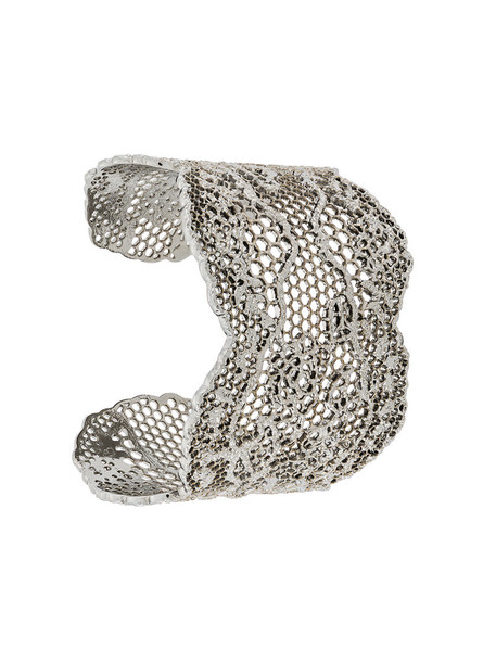 AURELIE BIDERMANN cuff women cuff bracelet silver grey metallic jewels