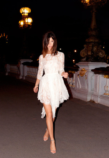Tumblr White Lace Dress Dress White White Dress Lace