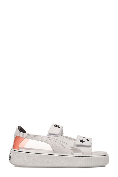 puma leather white shoes